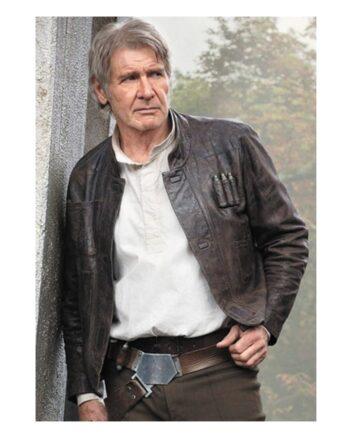 Harrison Ford Star Wars Han Solo Leather Jacket
