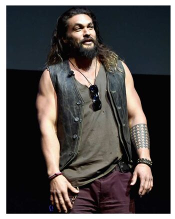 Cinemacon Justice League Promote Jason Momoa Vest
