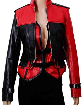 Harley Quinn Injustice 2 Leather Jacket With Vest