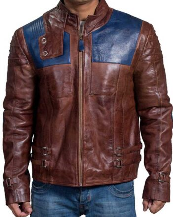 Krypton Seg-El Cameron Cuffe Distressed Brown Jacket