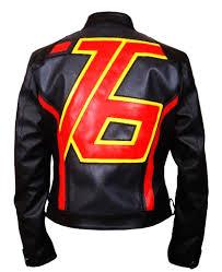 Mens Soldier 76 Jet Black Leather Jacket