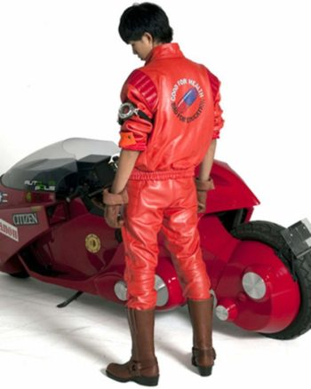Kaneda Akira Capsule Red Pill Motorcycle Leather Jacket