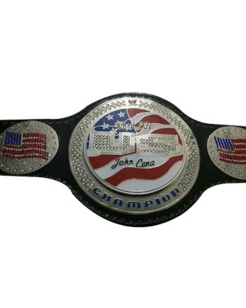 United States John Cena Spinner Zinc Plated Championship Belt