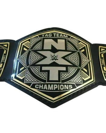 NXT Tag Team Wrestling Championship Belt Adult Size Leather Belt 2 mm Plates